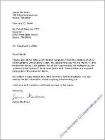 style resignation letters