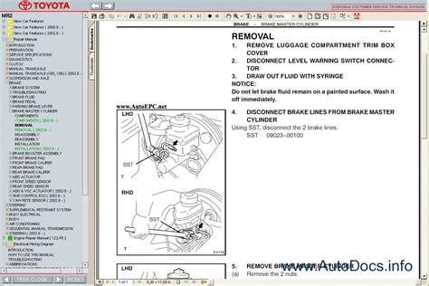 car repair manuals online pdf 2005 toyota mr2 interior lighting service manual toyota mr2 1999 2005 service toyota mr2 spyder au spec 1999 2002