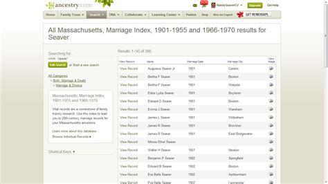 Massachusetts Marriage Records 1920 Genea Musings 20th Century Massachusetts Vital Record Indexes New On Ancestry