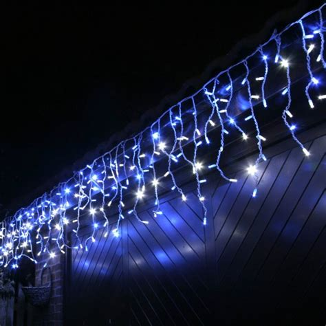 vente guirlande stalactite de noel ext 233 rieur 500 cm 180 led blanc et bleu