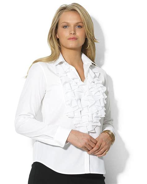 Ruffle Blouse plus size ruffle shirt ralph plus size