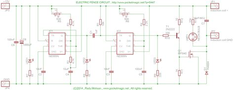 electric fencing circuit diagram electric fence circuit for perimeter protection pocketmagic
