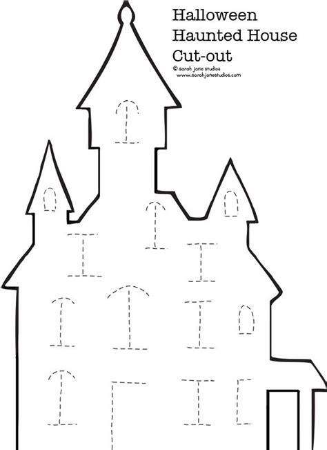 printable haunted house craft haunted house halloween cut out paper houses the kid