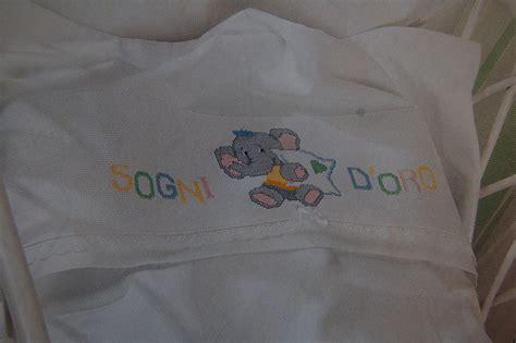 lenzuola culla neonato set neonato lenzuolo per carrozzina o culla ricamato a