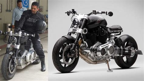 hellcat bike ms dhoni s hellcat bike ms dhoni s bike collection gq