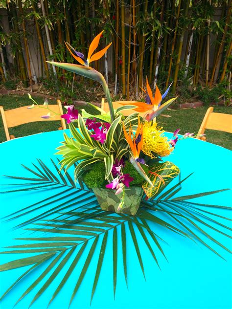 tropical themes thistle dew floral event design 187 tropical themed