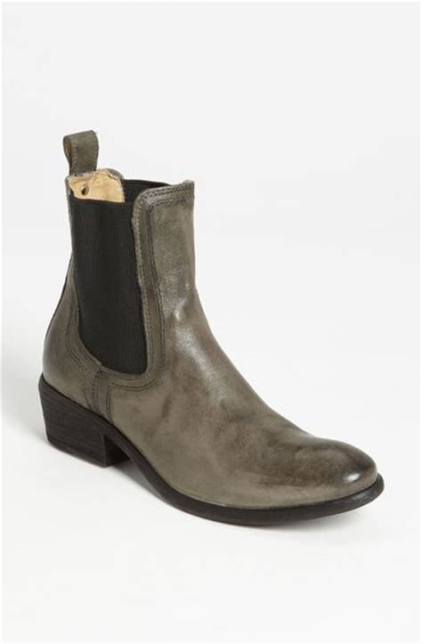 frye chelsea boot frye carson chelsea boot in gray charcoal leather lyst