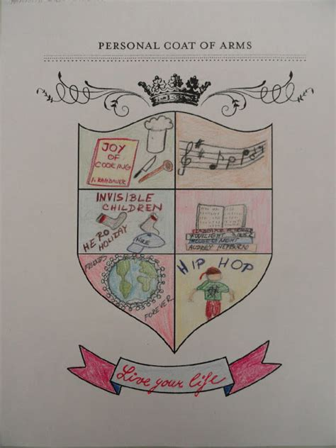 coat of arms template for students my personal coat of arms