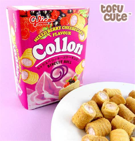 Glico Collon buy glico collon biscuit roll mixed berry cheesecake