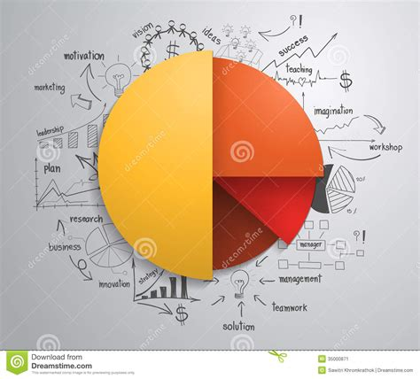 layout design strategy vector business infographics circle with drawing c stock