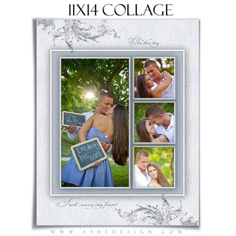 wedding collage template wings of love 1 11x14 1 sided