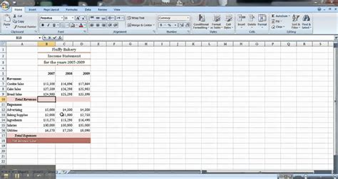 income statement template xls best photos of income statement excel create income