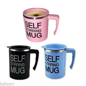 Ripple New Self Stirring Mug Pink self stirring coffee mug gift set of 3 black pink blue