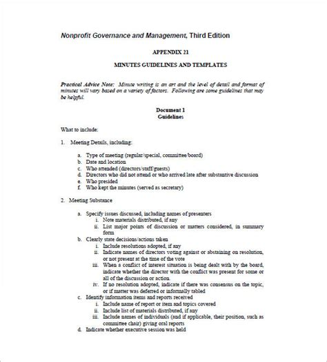 Board Meeting Minutes Templates ? 14  Free Word, Excel