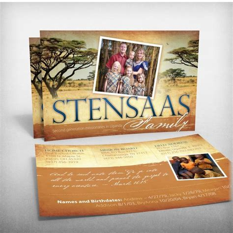 prayer card template for missionaries the stansaas family missionaries to uganda prayer card