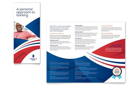 templates for designing brochures bank brochure template design