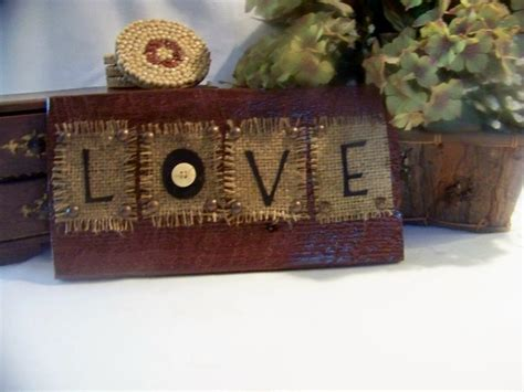 Handmade Wood Crafts - primitive decor handmade barn wood sign