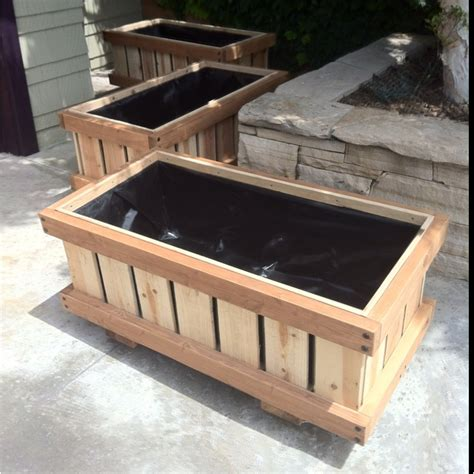 Rolling Planter Boxes by Pin By On Raised Bed Planters