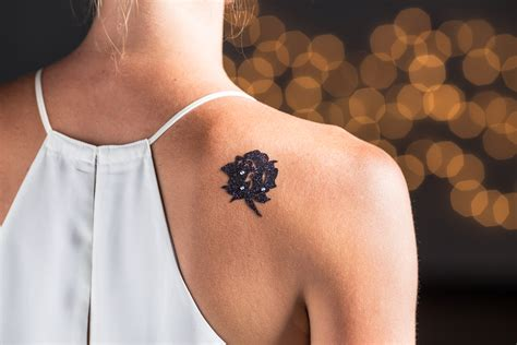 tattoo parlor lawrence black lace flash temporary tattoos instyle com