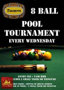8 ball pool tournament every wednesday the tavern
