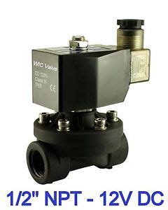 Solenoid Valve Plastic 12 Inchi Dc 12v Normally 1 2 quot inch normally closed plastic air gas water electric