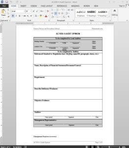 audit opinion letter template ac
