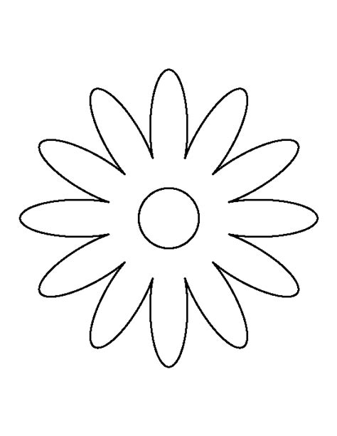 daisy pattern use the printable outline for crafts
