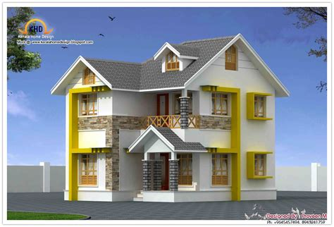 latest duplex house designs beautiful duplex house elevation 1440 sq ft kerala home design and floor plans