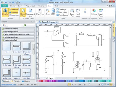 software for creating diagrams electronics circuit diagram software electrical