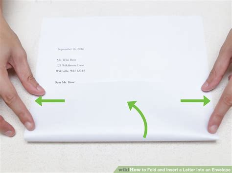 how to fold a letter the 3 best ways to fold and insert a letter into an envelope