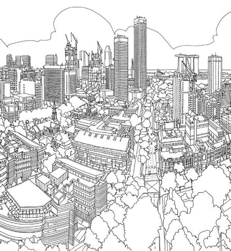 coloring book for adults in singapore n coloring page cities singapore
