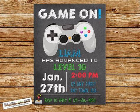 Video Game Invitation Video Game Birthday Gaming Invitation Video Game Birthday Invitation Gaming Invitation Template