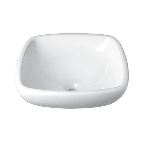 home white vessel decolav classically redefined semi recessed square vessel