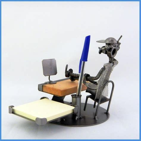 set da scrivania set da scrivania artigianale in metallo da collezione