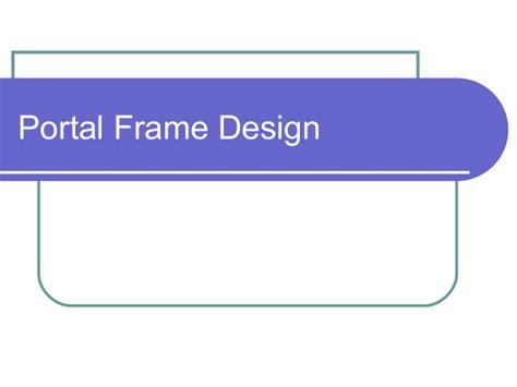 portal frame design xls portal frame by rhythm murgai