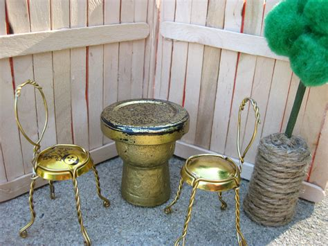 upcycled furniture cork upcycled mini dollhouse patio furniture made of