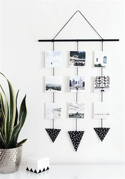 how high to hang pictures on wall display your memories with this diy photo wall hanging