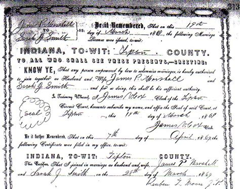 Smith County Marriage Records Marshall And Smith