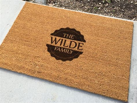 Personalized Coir Door Mats by 1000 Ideas About Personalized Door Mats On