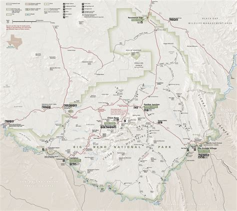 big bend national park map big bend maps npmaps just free maps period