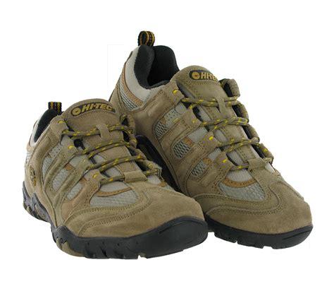 mens hi tec walking boots mens hi tec quadra classic leather trail hiking walking