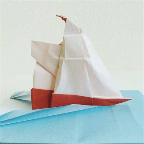 Origami Sailing Ship - cool origami designs inspired by dragons unicorns and