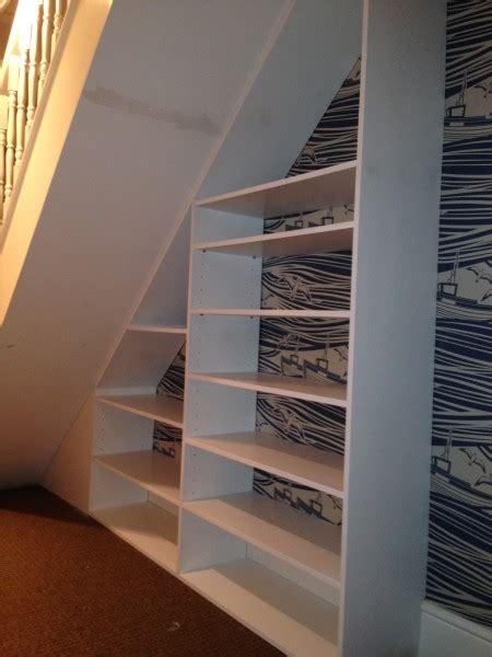 stair shelving unit bespoke stair shelving unit whitstable ct5 gill