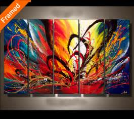 Great Color Combos colorful canvas painting for bedroom fashion picture of