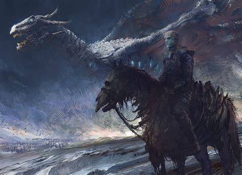 white walker  dragon hd artist  wallpapers images