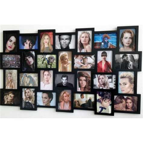 cornice multipla da parete portafoto mosaico 28 foto nero cornice multipla fotografie