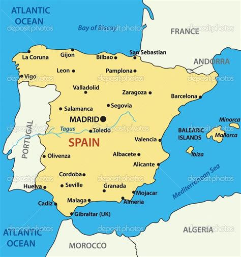 southern spain map map of southern spain coast