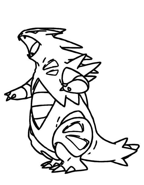 pokemon coloring pages typhlosion pokemon tyranitar images pokemon images