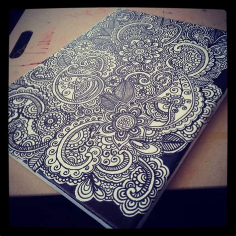 canvas doodle canvas doodle henna doodle on canvas 14 x 11 by khadeejaniazi on