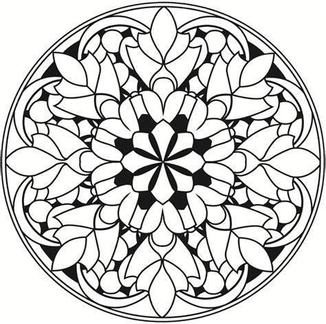 mandala stained glass coloring books welcome to dover publications creative kaleidoscope